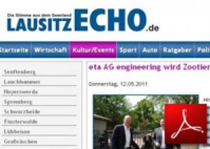 lausitzECHO<br /> eta AG wird Zootierpate